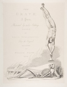 The Skeleton Re-Animated, Title Page to the Grave, a Poem by Robert Blair.