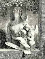 Daniel Chodowiecki: Ex Libris für seine eigene Bibliothek. Kupferstich. ca. 1760