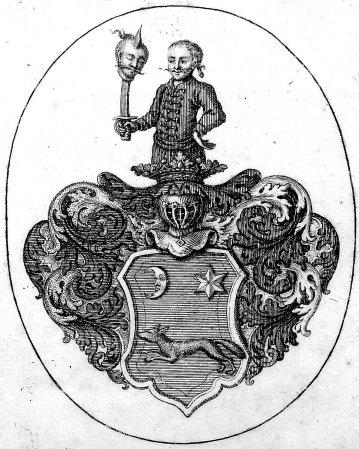 From Armorial Ex-libris of David Samuel von Madai.