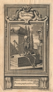 Ex libris Moritz Carl Christian Woog. È Bibliotheca Woogiana. ca. 1740