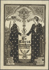 Theology & Science meet. By Louis Rhead, ca. 1907