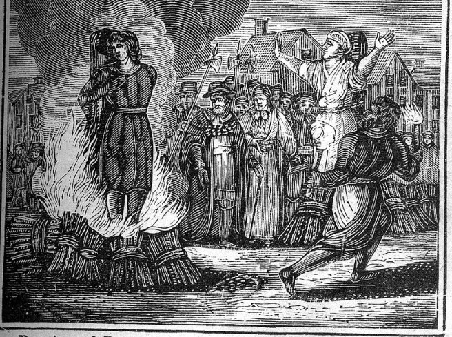 Witch Burning at the Stake, 19th century.