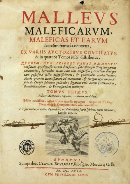 Title page of the Malleus Maleficarum, 1669 edition.