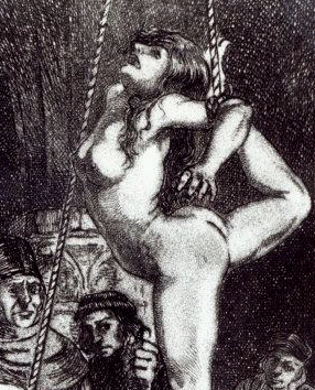 "A ""witch"" is tortured. Martin van Maele, 1911."